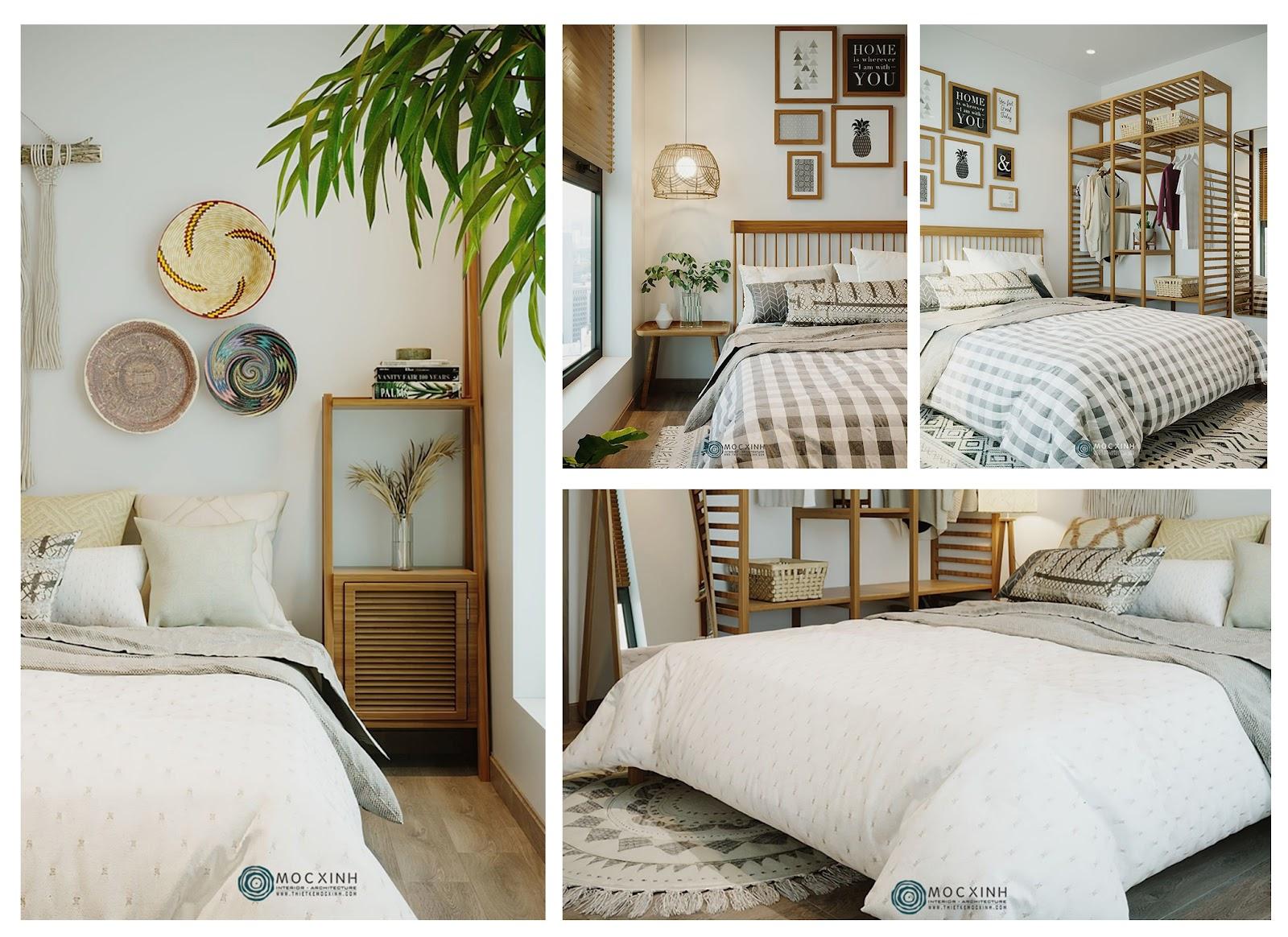 Thiết kế phòng ngủ homestay sáng tạo tươi sáng