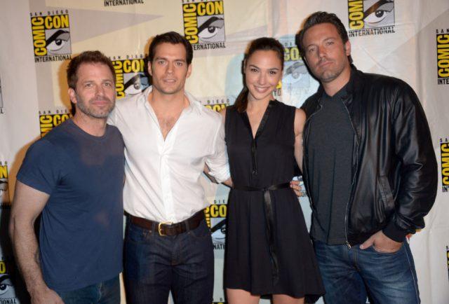 Zack Snyder, Henry Cavill, Gal Gadot, and Ben Affleck