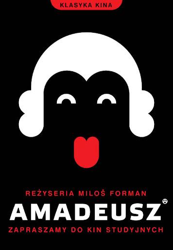 Polski plakat filmu 'Amadeusz'