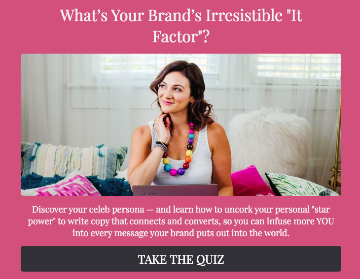 What's your brand irresistible it factor quiz cover