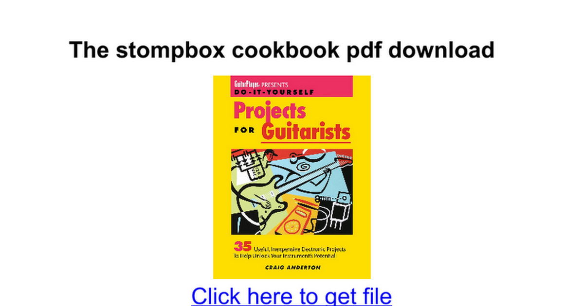 The stompbox cookbook pdf download google docs solutioingenieria Images