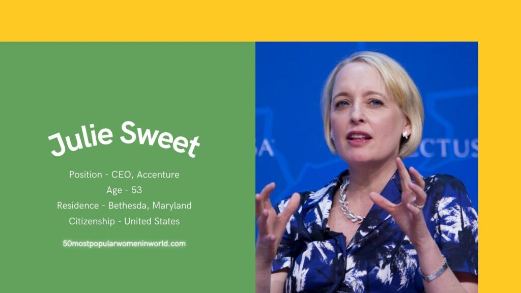 Julie Sweet inculded in 50 most famous women