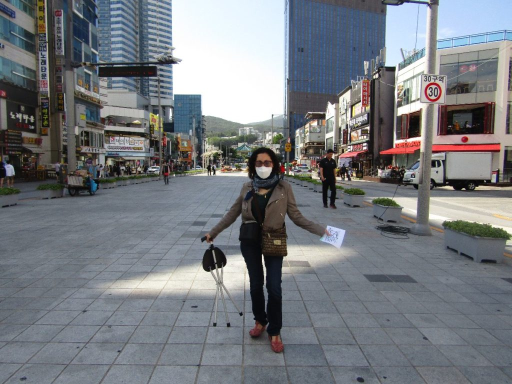 Wearing a mask in Busan, South Korea