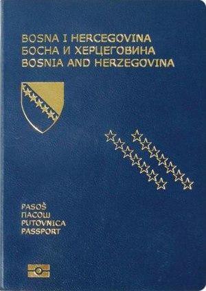 Passport cover of Bosnia and Herzegovina citizens