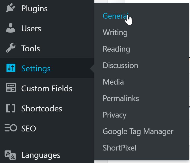 Voici comment accéder au fuseau horaire à partir du menu principal sur le côté gauche.