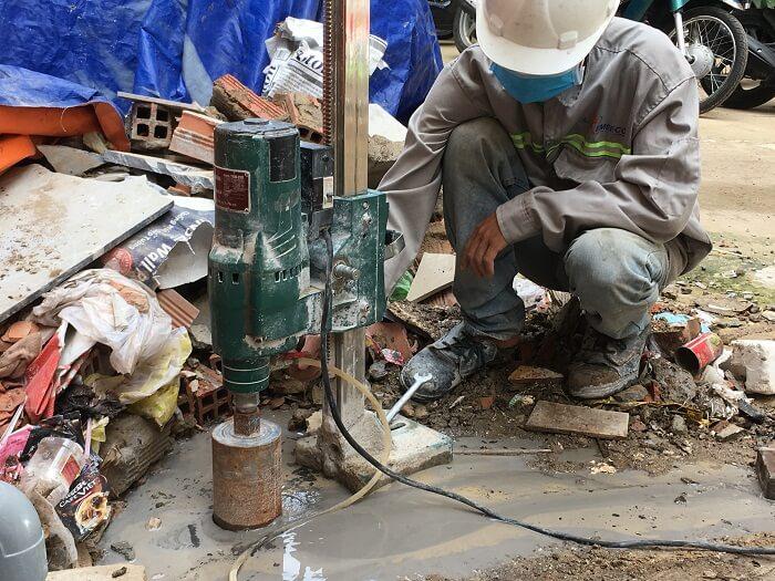 Dịch vụ khoan cắt bê tông tại thành phố Hồ Chí Minh rất phổ biến