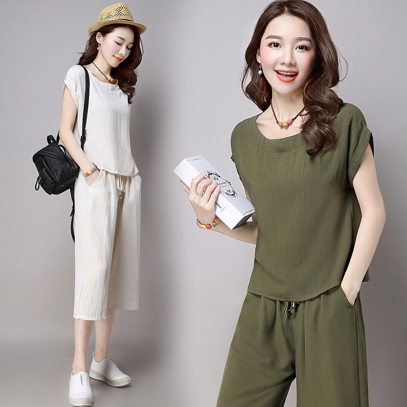 2016-New-Arrival-Korean-Style-fashion-short-sleeved-linen-suit-large-size-women-temperament-Slim-cotton-two-piece-women.jpg