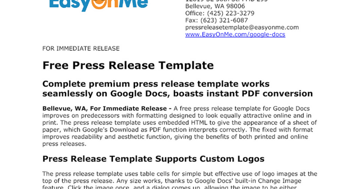 press release template google docs version google docs