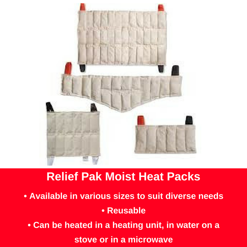 Relief Pak Hot Pack Size guide