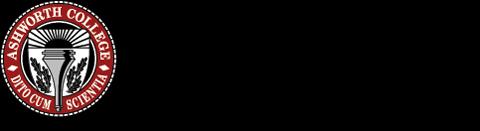 Logo of Ashworth College online pharmacy technician training program