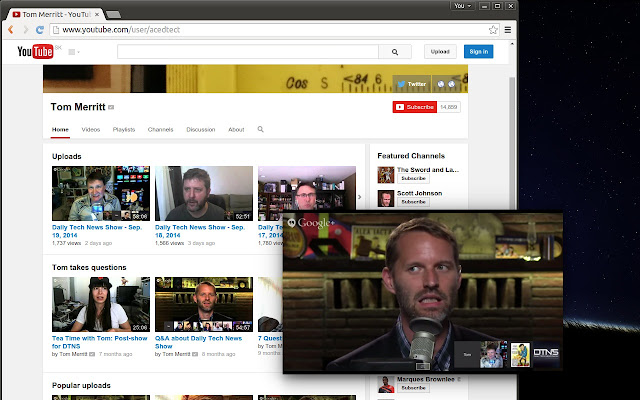 Floating for youtube chrome web store for Fenetre dos windows 7