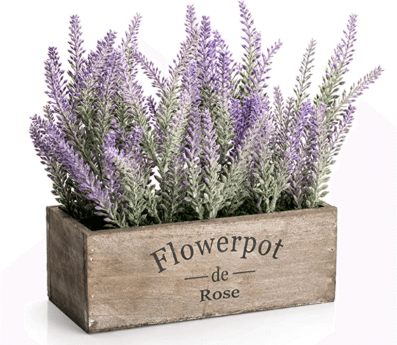 spring decorations artificial flower potted lavender plant