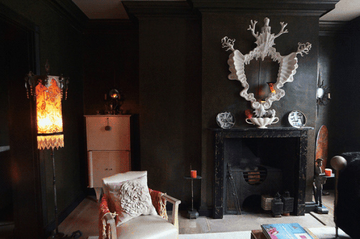 Decorate Your Bedroom Fireplace in Gothic Style