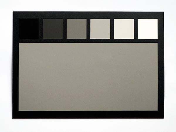 Обратная сторона калибровочной карты – поле с оттенками серого.