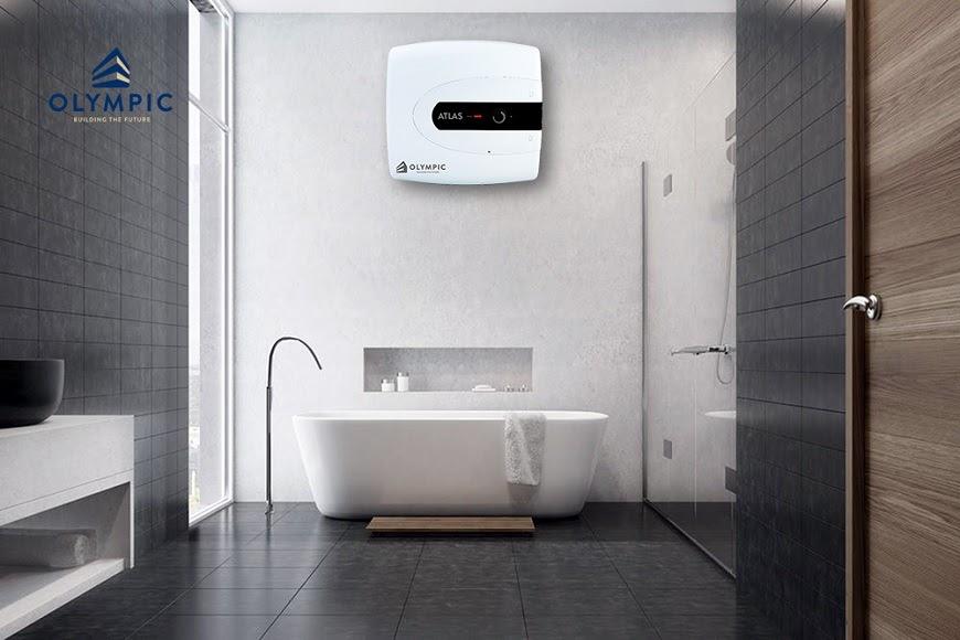 Bình nóng lạnh Olympic thiết kế vuông cho căn hộ nhỏ và vừa