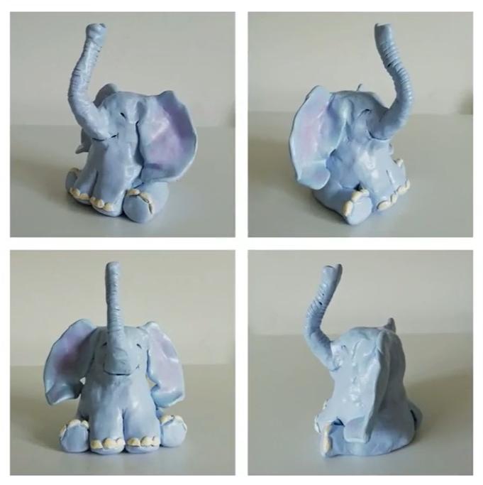 clay elephant