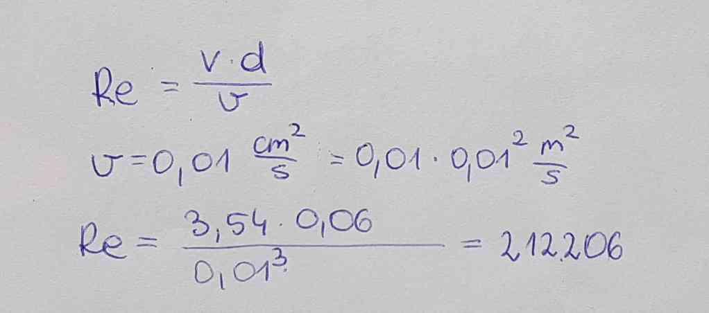 Obliczenie liczby Reynoldsa