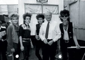 Pier show 1983 with Mayor Ed Koch…. who introduced them being from Wales, England!!