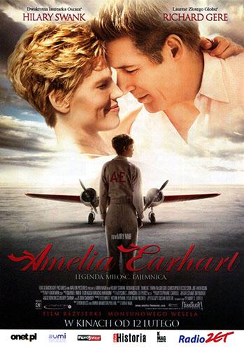 Przód ulotki filmu 'Amelia Earhart'
