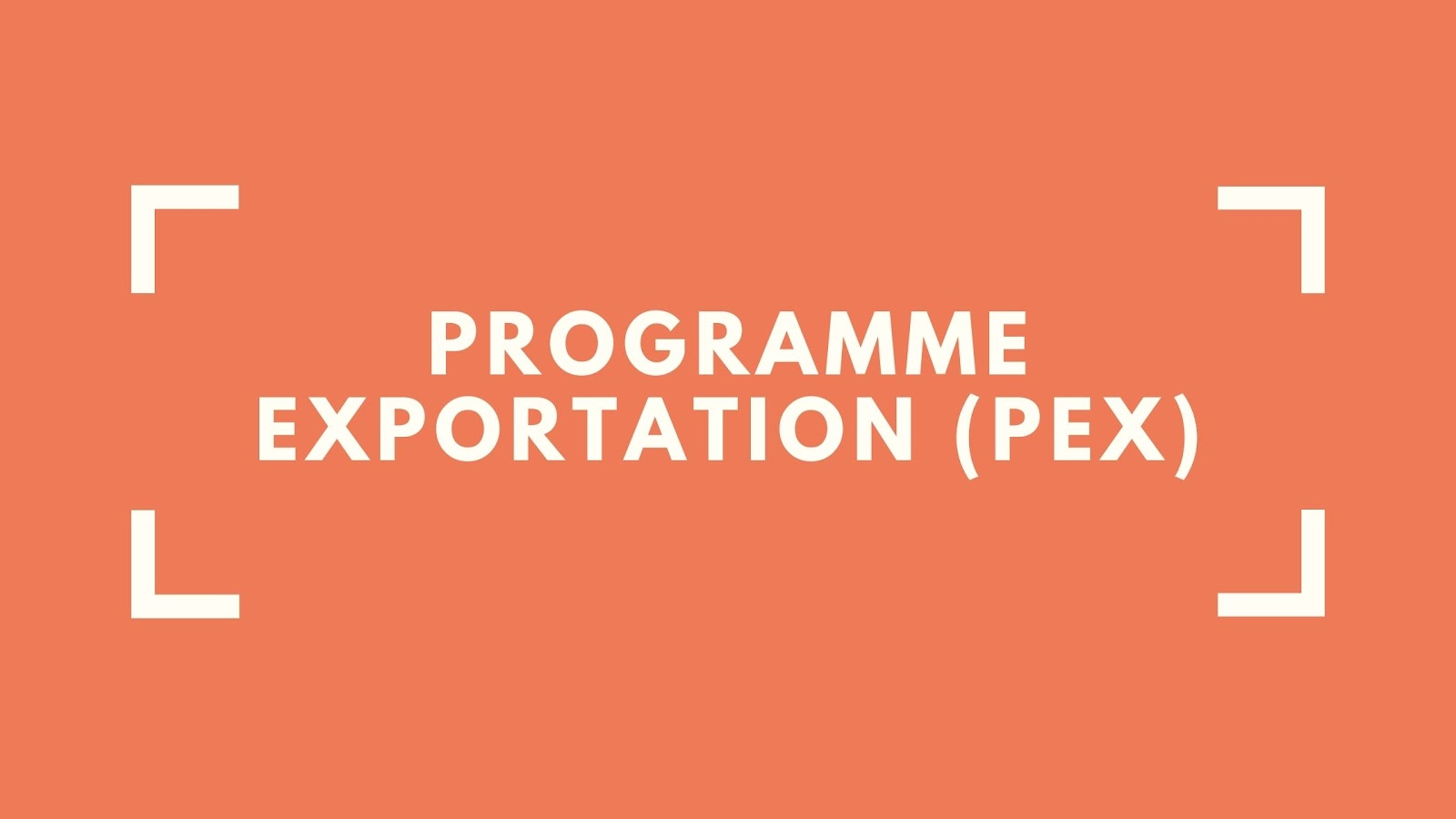 Programme Exportation - Volet Entreprise (PEX)