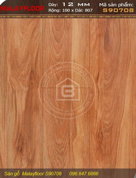 Thông tin chi tiết sàn gỗ Malayfloor S90708 của Nội thất Bảo Châu