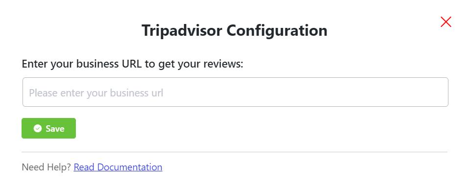 Tripadvisor reviews configuration