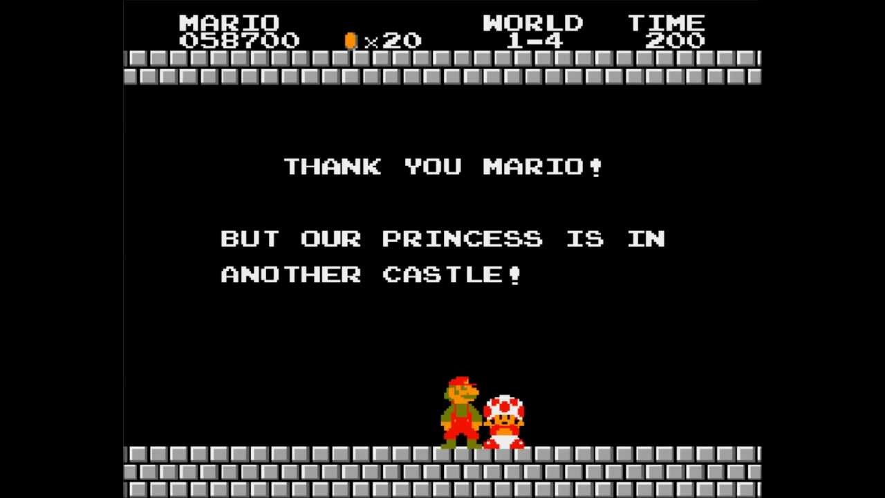 Image result for toad sorry mario