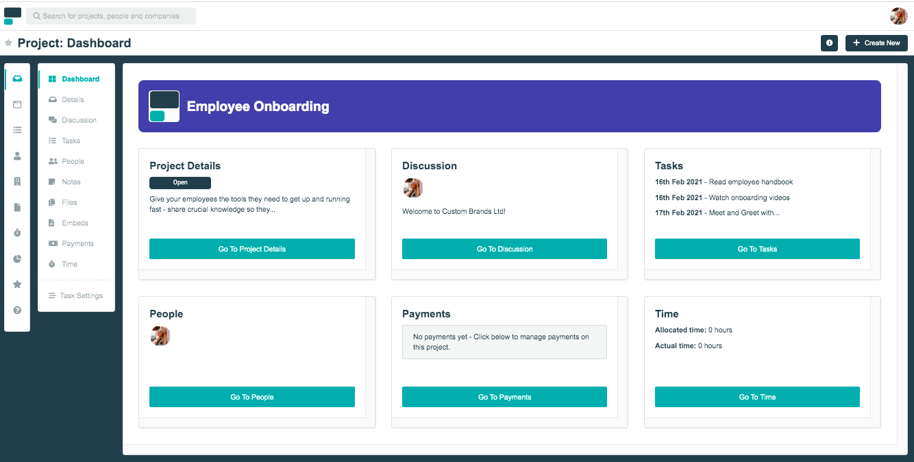 Project.co dashboard