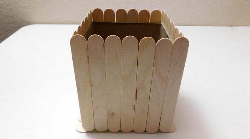 DIY Popsicle Stick Box