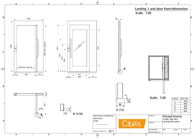 Bản vẽ kỹ thuật thang máy A5000 phần 3