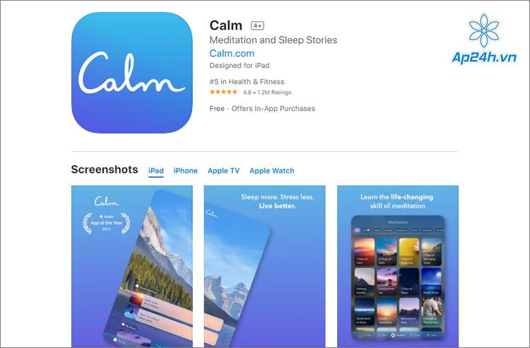 Ứng dụng tập thiền trên iOS