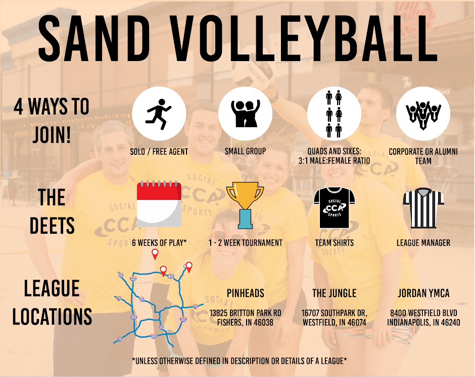 Sand Volleyball - Indianapolis Sand Volleyball Leagues