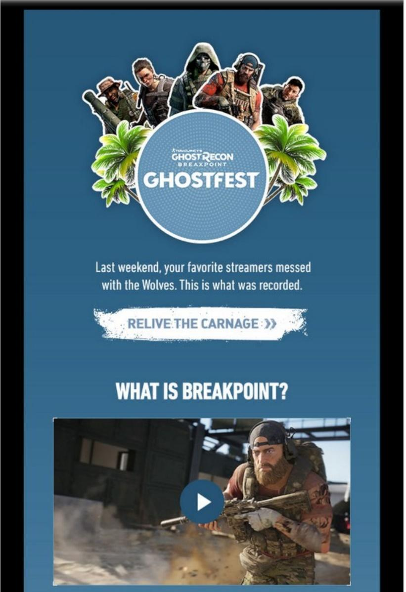 Ghostfest campaign email