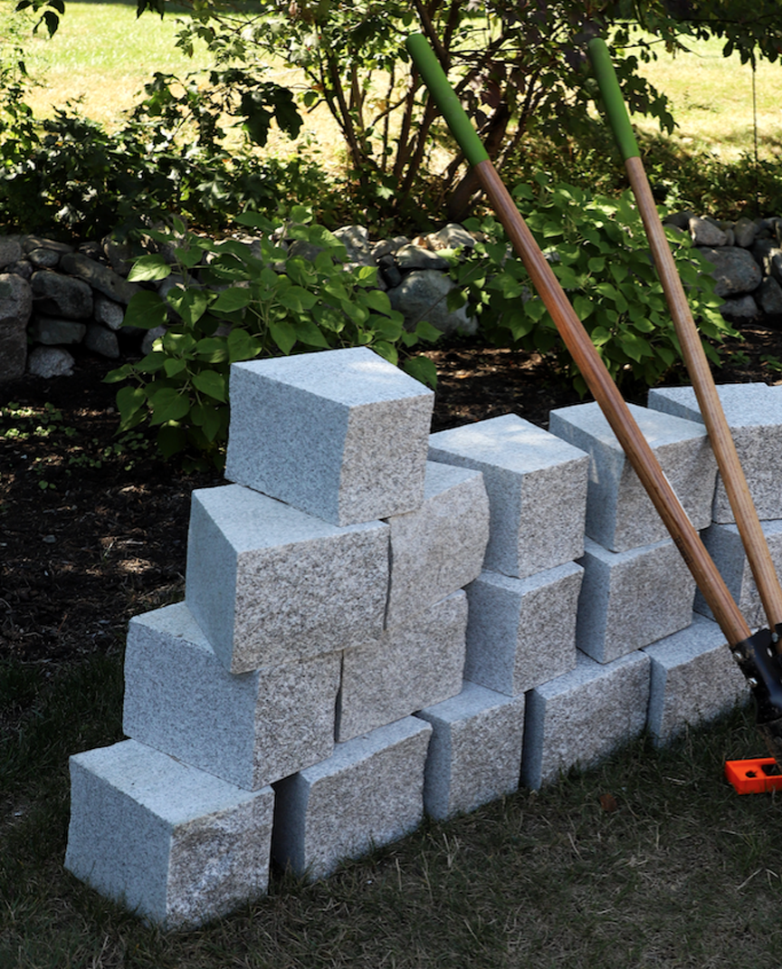 Granite fire pit blocks