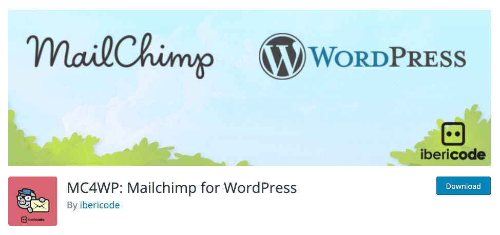 Mailchimp for WordPress plugin page.