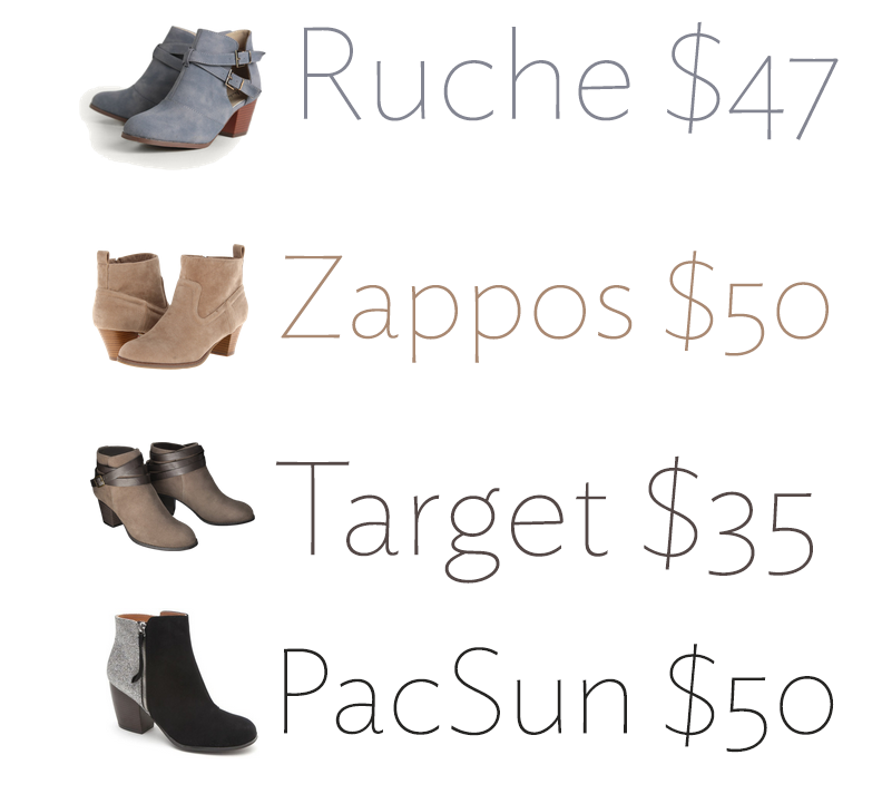 fall budget booties