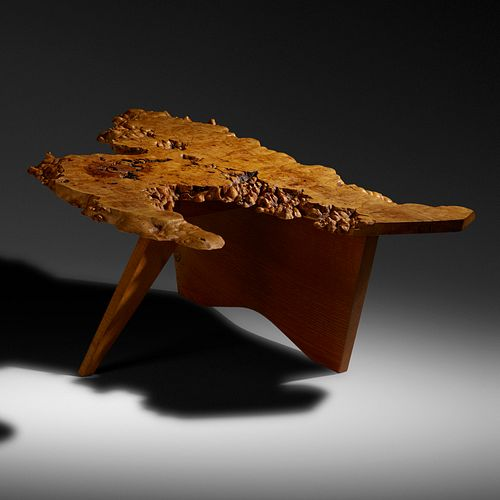 Special-order coffee table by George Nakashima. Photo courtesy of Rago.