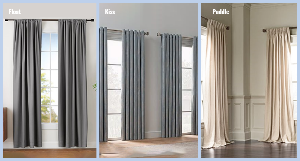 different curtain sizes