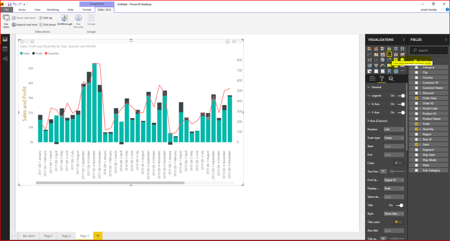Dual Axis Chart in Microsoft Power BI - Step By Step 50