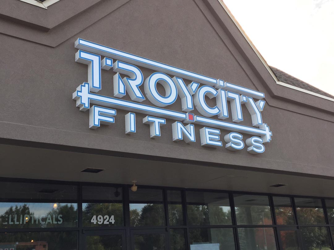 Troy City Fitness LED Channel Letters