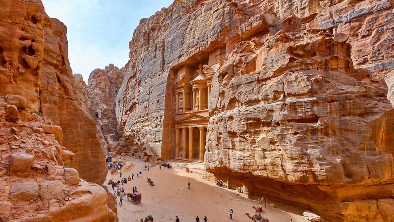 Skalne miasto Petra (Jordania)