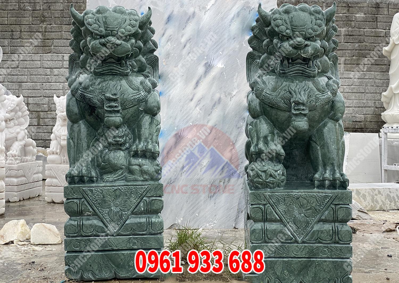 Tượng sư tử đá xanh Ấn Độ
