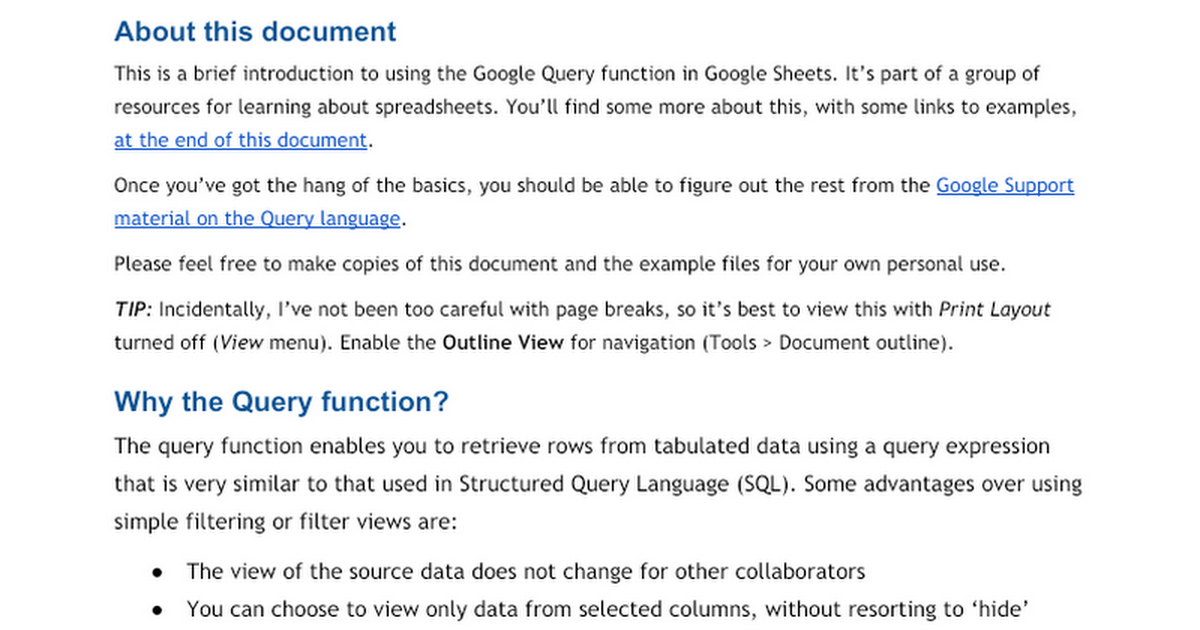 Google Sheets Query Function Google Docs - Google sheets quote template