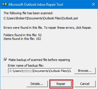 How do I fix Outlook not sending emails?