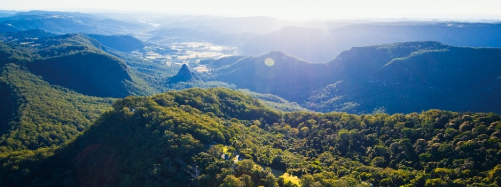 Take in the views of Gold Coast Hinterlands