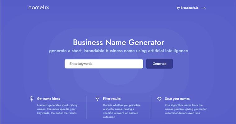 namelix business name generator