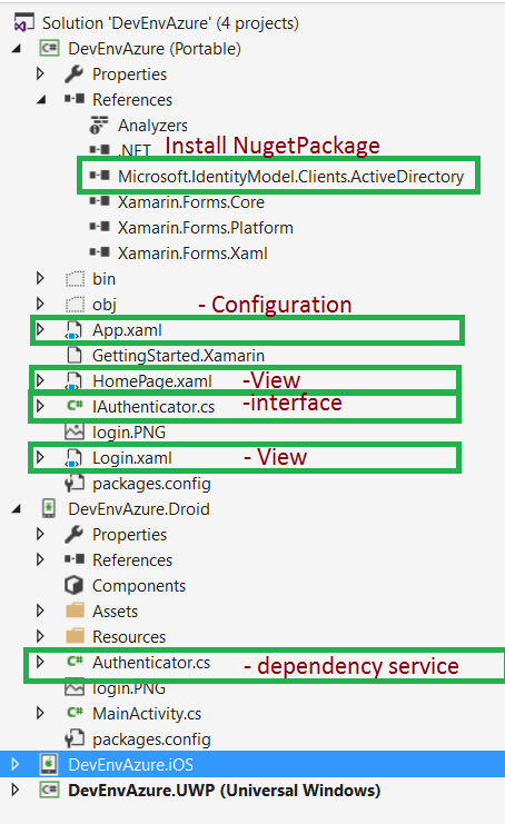 DevEnvExe Com/Xamarin: Azure Active Directory Login using Xamarin Forms
