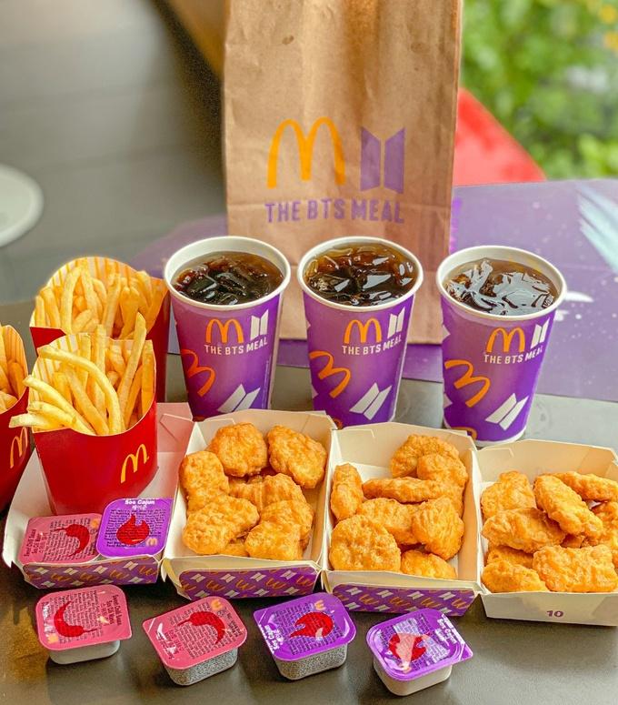 Hình ảnh phần ăn BTS tại McDonald's.