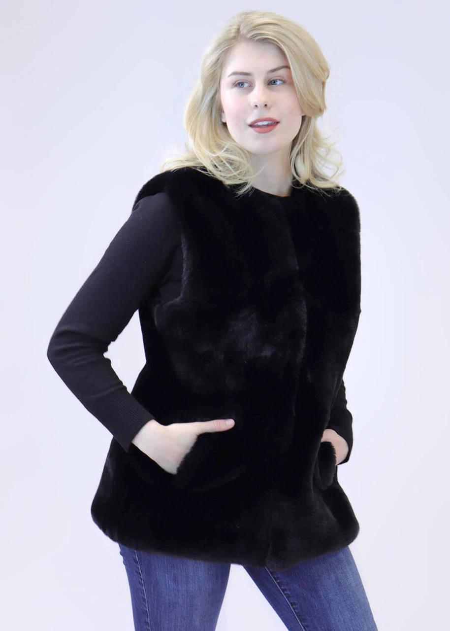 Faux Rex Rabbit Fur Vest