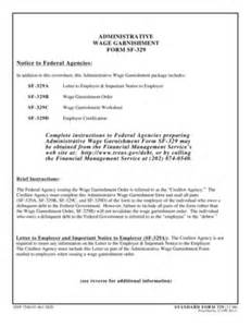 Wage Garnishment Worksheet Sf 329c